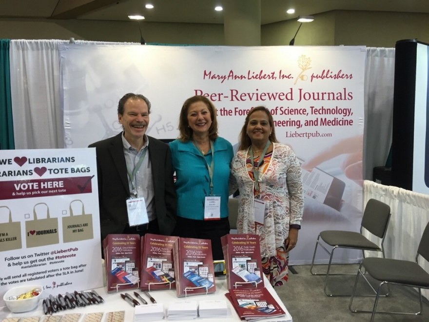 working the booth at the Medical Library Association in Toronto