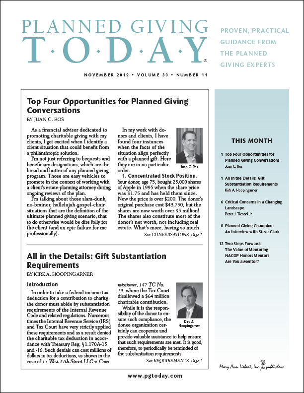 Planned Giving Today Cover