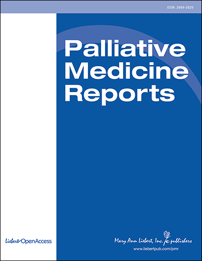 Palliative Medicine Reports (PMR) Cover