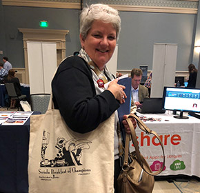 Kay Smith from Roper St. Francis Healthcare with the 2017 tote