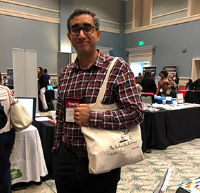 Alan St. Pierre from Princeton University modeling the 2018 tote